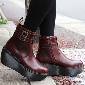 Dr. Martens Oxblood Caitlin Ankle platform Boots 9